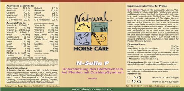 N-Sulin pelletiert - Cushing Pferd