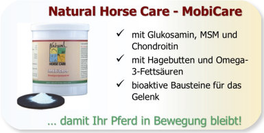 Kräuter und gelenkaktive Nährstoffe (Glukosamin und Chrondroitin) bei Pferden mit Arthrose