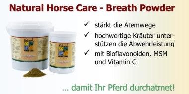 Breath Powder - Topseller, wenn Pferde husten.