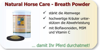 Breath Powder - löst hartnäckigen Schleim beim Pferd.
