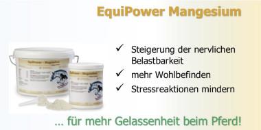 Equipower-Magnesium bei Schreckhaftigkeit des Pferdes