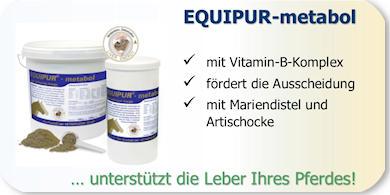 Leber- und Gallenfunktion beim Pferd mit Equipur metabol unterstützen!