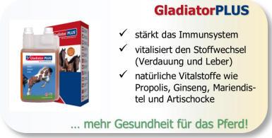 Gladiator Plus stärkt das Immunsystem beim Pferd.