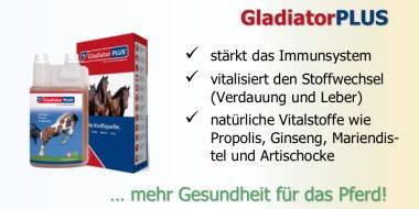 GladiatorPlus unterstützt das Immunsystem und die Abwehrleistung des Pferdes