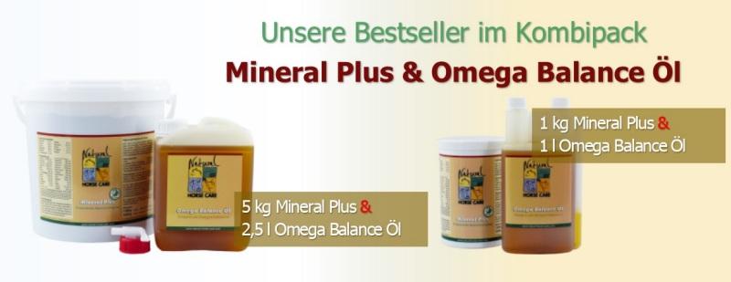 Unsere Bestseller Mineral Plus und das Omega Balance Öl im Kombipack!