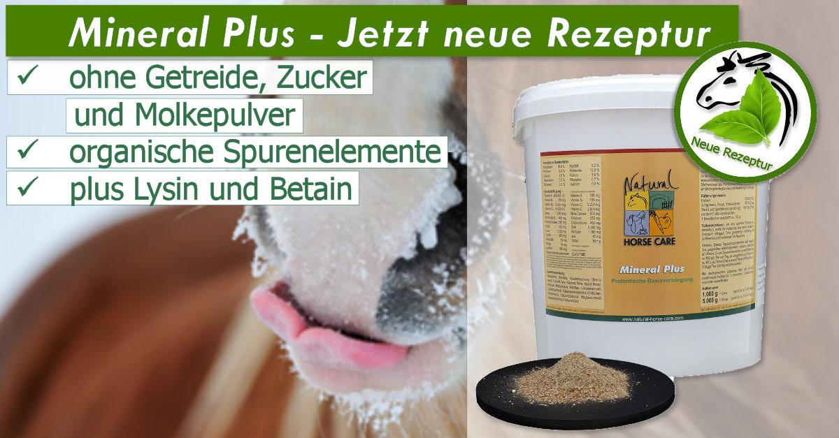 Unser Topseller Mineral Plus für Pferde jetzt ohne Getreide und Zucker