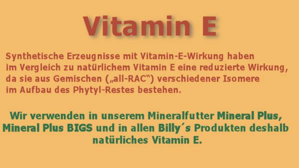 Mineralfutter für Pferde mit natürlichem Vitamin E