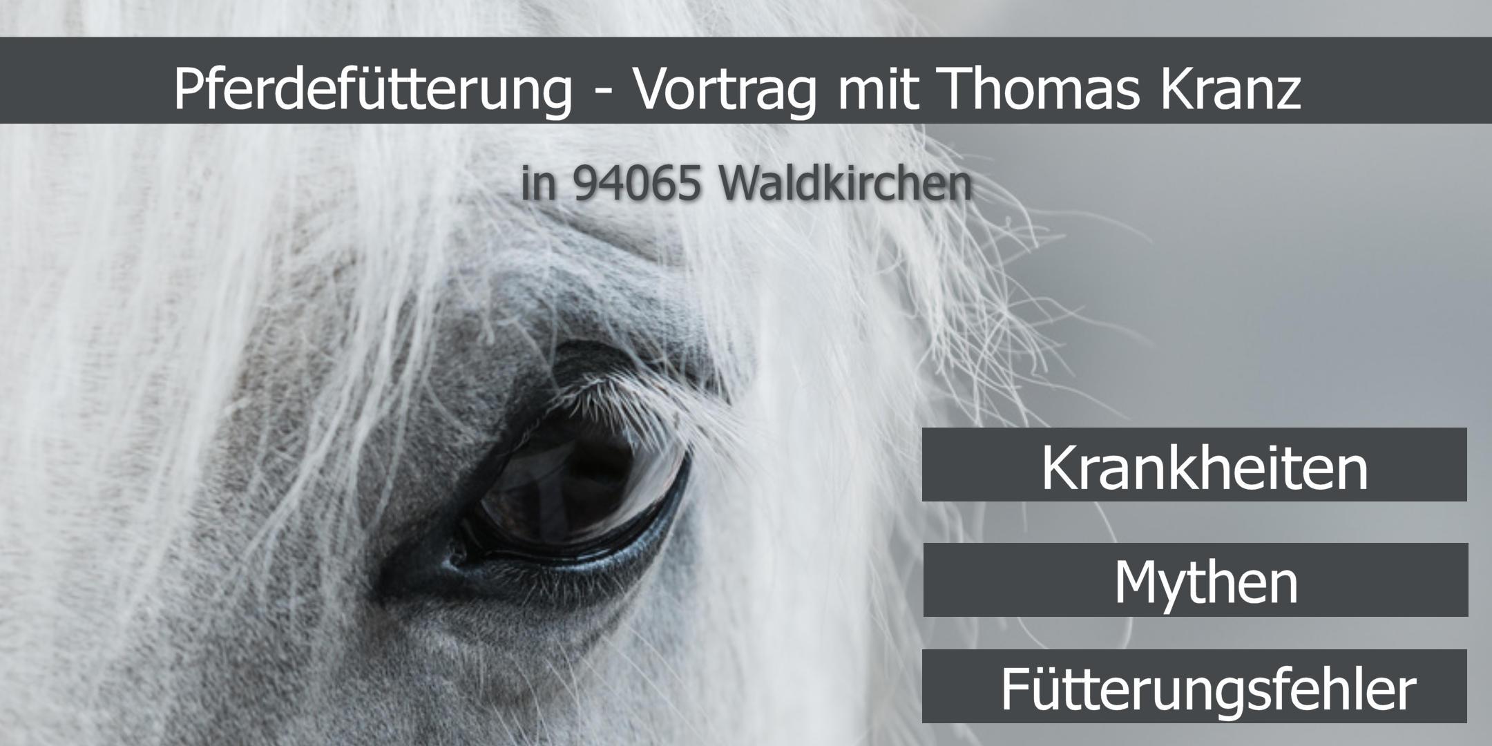 Vortrag Thomas Kranz Pferdefütterung