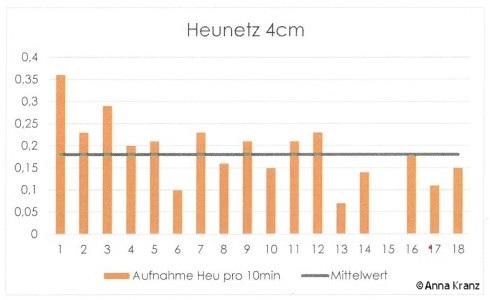 Heunetz 4 cm - Fressverhalten Pferd